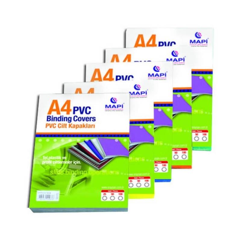 MAPİ CİLT K.A3 PVC 160 MİC.BEYAZ 100LÜ 204 03 00