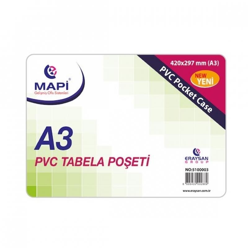 MAPİ TABELA POŞETİ A3 PVC 20Lİ 510 00 03