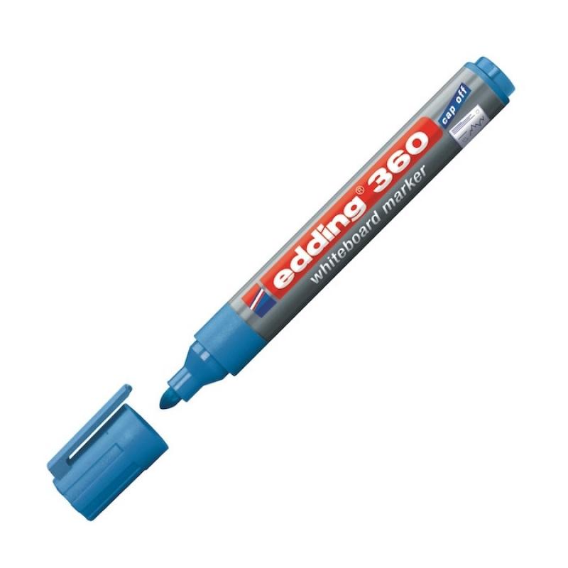 Eddıng Beyaz Tahta Kalemi Cap Off E-360 A.mavi