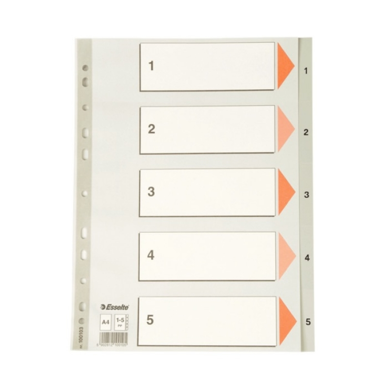 Esselte Separatör A4 1-5 Rakam Slt-100103